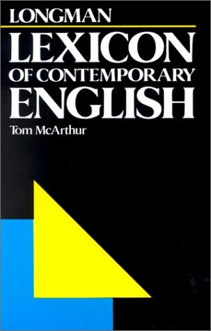 Longman Lexicon of Contemporary English (0582556368) by McArthur, Tom