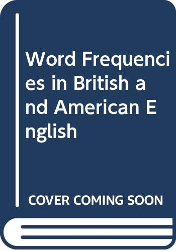 9780582557093: Word Frequencies in British and American English