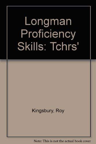 9780582559394: Longman Proficiency Skills: Tchrs'