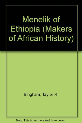 9780582609341: Menelik of Ethiopia (Makers of African History)