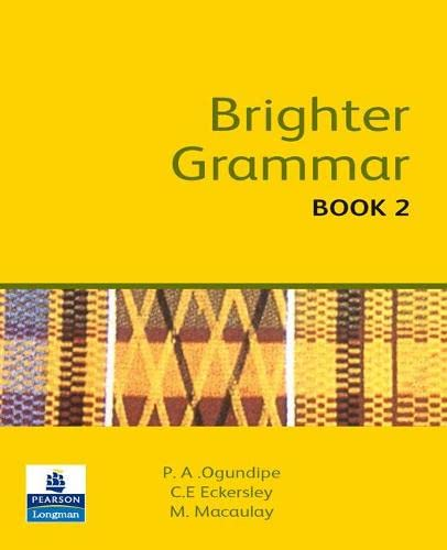 9780582609723: Brighter Grammar Book 2 African Edition (Brighter Grammar African Edition) (Bk. 2)