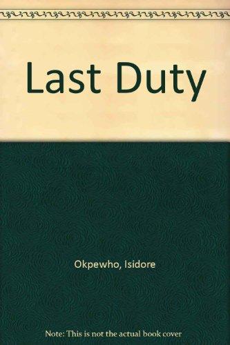 9780582646230: Last Duty