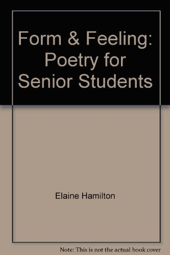 9780582661684: FORM and FEELING: Poetry for Senior Students