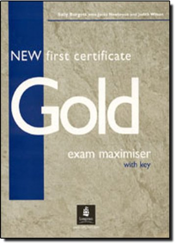 9780582777163: New First Certificate Gold