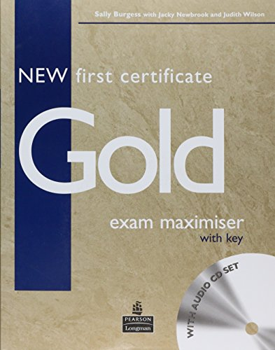 9780582777248: New First Certificate Gold Exam Maximiser Key & CD Pack