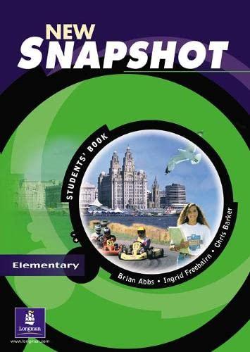 9780582779280: New snapshot. Elementary. Student's book. Per le Scuole superiori