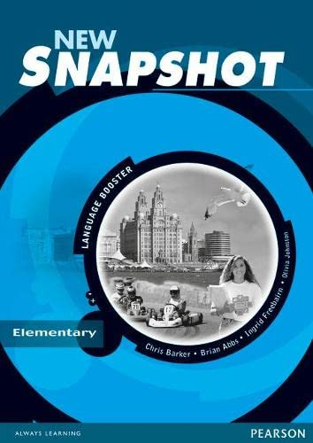9780582779297: Snapshot Elementary Language Booster New Edition