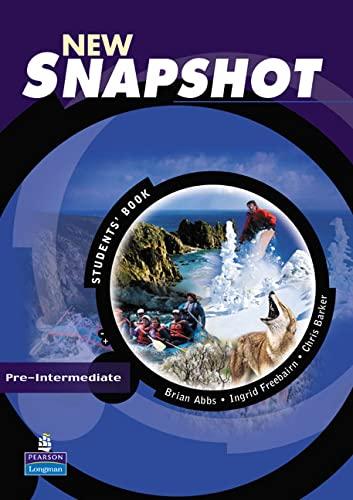 9780582779495: New snapshot. Pre-intermediate. Student's book. Per le Scuole superiori