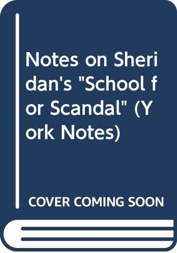 9780582781061: Notes on Sheridan's