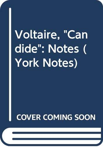 9780582782358: York Notes on Voltaire's Candide