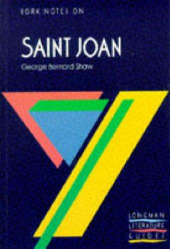 9780582782860: Saint Joan (York Notes On)