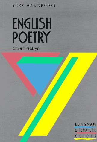 9780582792715: English Poetry (Longman Literature Guides)