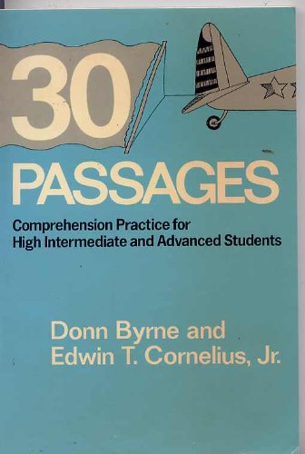 9780582797048: 30 Passages: Comprehension Practice for High Intermediate and Advanced Students
