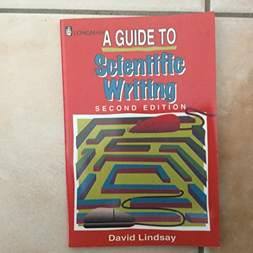 9780582803121: A Guide to Scientific Writing: Manual for Students and Research Workers