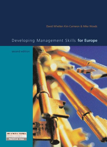 9780582820791: Developing Management Skills for Europe with Skills Self assessment Library V 2.0 CD-ROM