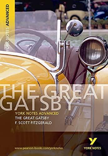 9780582823105: The Great Gatsby. Interpretationshilfe (York Notes Advanced)