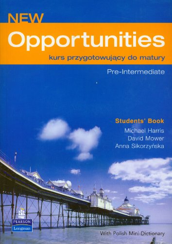 9780582823716: Opportunities New Pre Intermediate Students Book z plyta CD