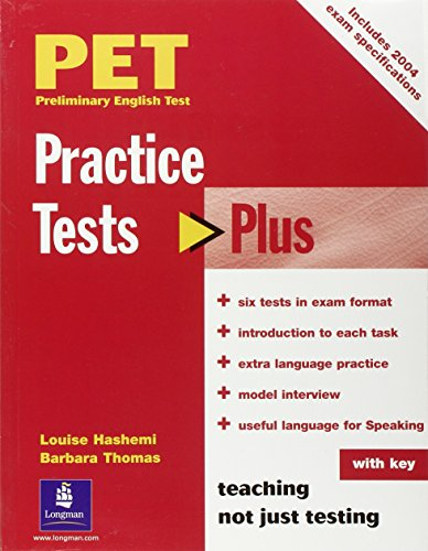 9780582824218: PET Practice Tests Plus with Key New Edition