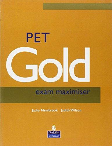 9780582824782: PET Gold Exam Maximiser No Key (Gold)