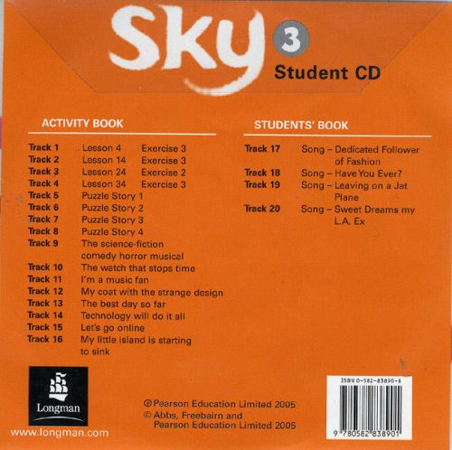 Sky 3 Activity Book CD (9780582838901) by [???]