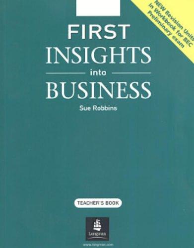 9780582846630: First Insights into Business: Teacher's Book