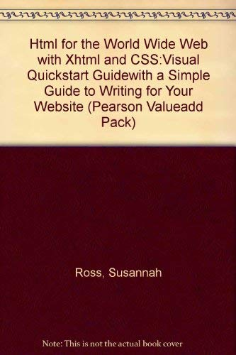 9780582849044: Html for the World Wide Web with Xhtml and CSS:Visual Quickstart Guidewith a Simple Guide to Writing for Your Website