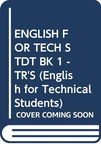 9780582852150: English for Technical Students: Tchrs' Bk. 1