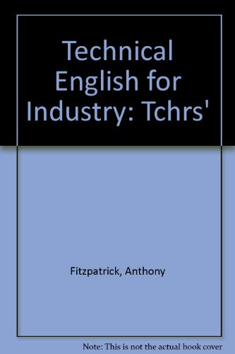 9780582852778: Technical English for Industry: Tchrs'