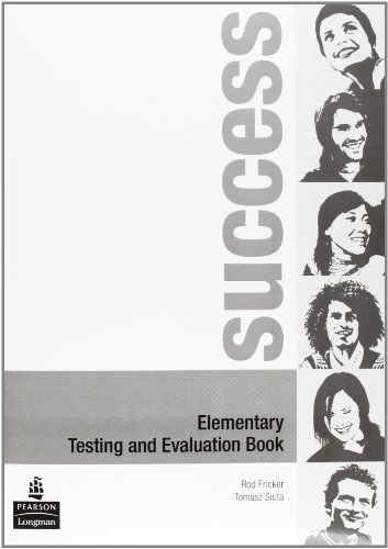 9780582853812: Success. Elementary test-Evaluation book. Ediz. internazionale. Per le Scuole superiori. Con CD Audio: Elementary Test Book