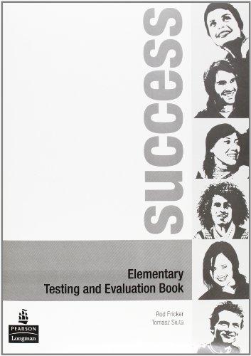 9780582853812: Success. Elementary test-Evaluation book. Ediz. internazionale. Per le Scuole superiori. Con CD Audio
