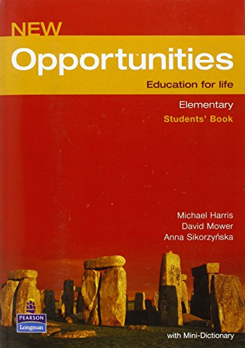 9780582854116: New Opportunities. Elementary. Students' Book: Global Elementary Students' Book