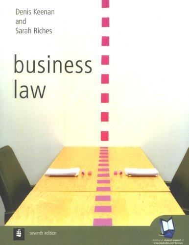 9780582893979: Business Law / Denis Keenan, Sarah Riches