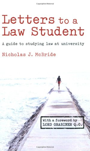 9780582894259: Letters to a Law Student: A Guide to Studying Law at University