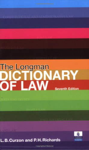 9780582894266: The Longman Dictionary of Law