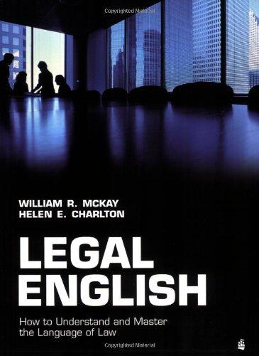 9780582894365: Legal English