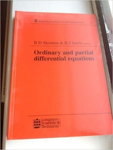 9780582988927: Pitman Research Notes in Mathematics Series: Ordinary and Partial Differential Equations