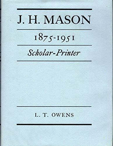 9780584103533: J.H. Mason, 1875-1951 (Ars Typographica Lib.)