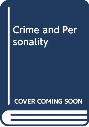 9780586080078: Crime and Personality