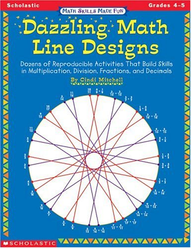 9780590000888: Dazzling Math Line Designs, Grades 4-5 (Math Skills Made Fun)