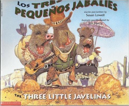 9780590003193: Los Tres Pequenos Jabalies, The Three Little Javelinas (Spanish/English)