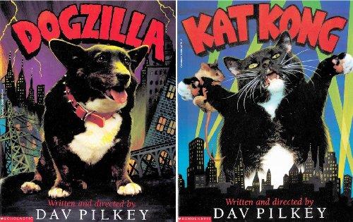 9780590016575: Dav Pilkey 2 Book Set: Dogzilla and Kat Kong