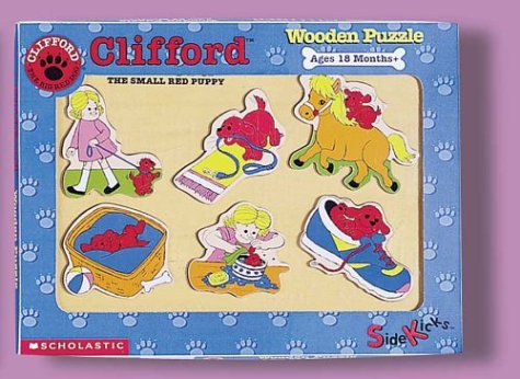 9780590034333: Clifford the Small Red Puppy Wooden Puzzle--Daily Activities