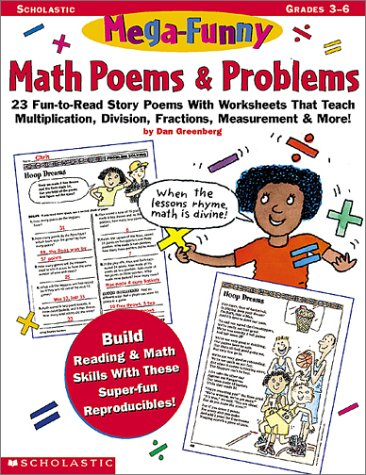 9780590187350: Mega-Funny Math Poems & Problems (Grades 3-6)