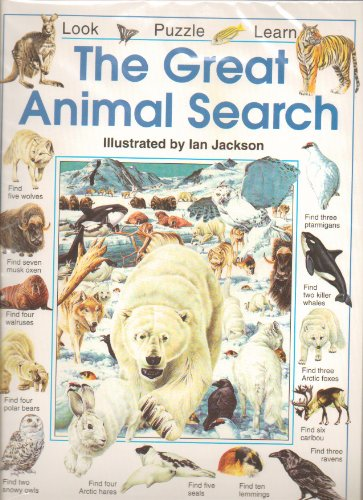 9780590187848: The great animal search (Look, puzzle, learn)