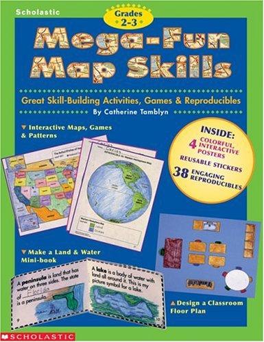 9780590187992: Mega-Fun Map Skills (Grades 2-3)