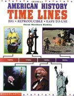 9780590266086: American History Time Lines: Big, Reproducible, Easy-To-Use