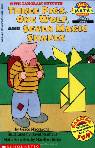 9780590308571: Three Pigs, One Wolf, and Seven Magic Shapes (Hello Math Reader. Level 3)