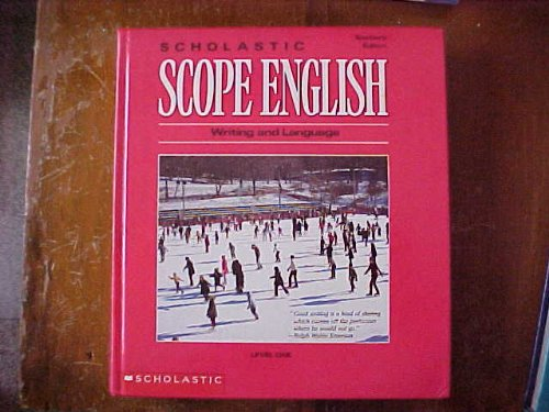 9780590354493: Scholastic Scope English Level One Teacher's Edition Isbn 0590354493 (Writing and Language)