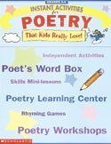 9780590373524: Instant Activities for Poetry (Grades 3-6)