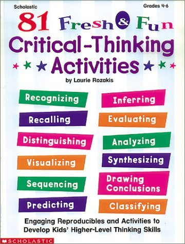 thinker tasks critical thinking activities answers Critical thinking is thinking that assesses itself ( center for critical thinking, 1996b ) critical thinking is the ability to think about one's thinking in such a way as 1 to recognize its strengths and weaknesses and, as a result, 2 to recast the thinking in improved form (center for critical thinking, 1996c .